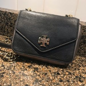 Tory Burch Leather Two-Toned Chain Crossbody